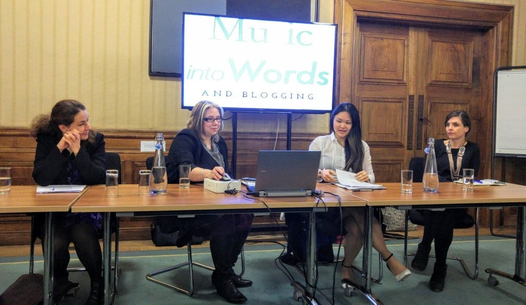 Jessica Duchen, Fran Wilson, Mary Grace Nguyen and Imogen Tilden on the panel. Picture by Christian Hopkins.