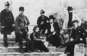 The Prix de Rome contestants in 1901. Caplet is seated, third in from right.